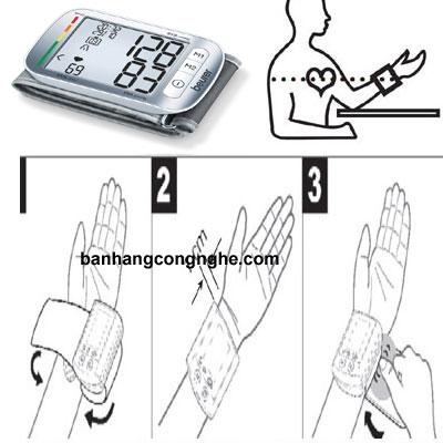 máy đo huyết áp cổ tay beurer bc50 - 4