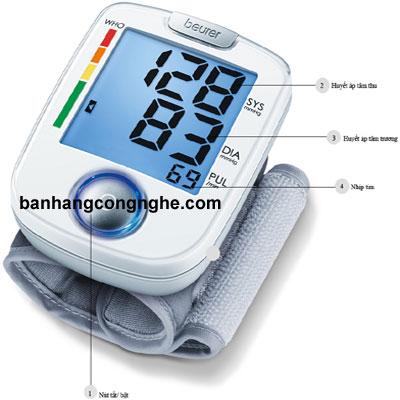 cấu tạo của máy đo huyết áp cổ tay Beurer BC44
