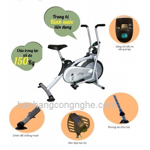 cấu tạo xe đạp tập thể dục liên hoàn Life Span