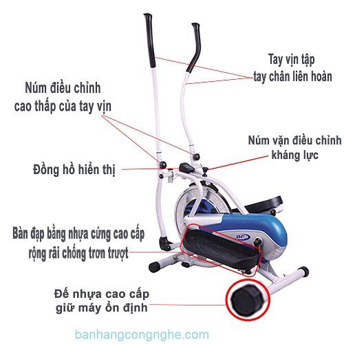 chi tiết xe đạp tập Orbitrack New 208B