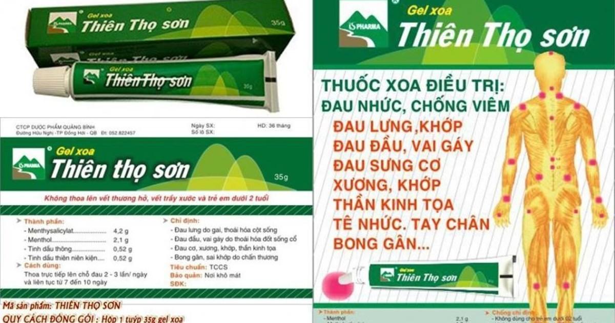 gel xoa Thiên Thọ Sơn