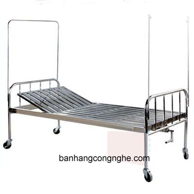 giường Inox 1 tay quay có bô