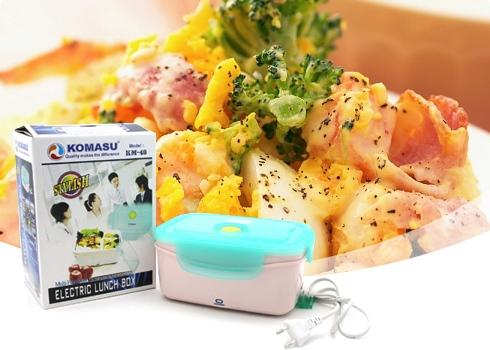 Hộp cơm điện tự động hâm nóng thức ăn komasu giá cực rẻ bảo hành 12 tháng