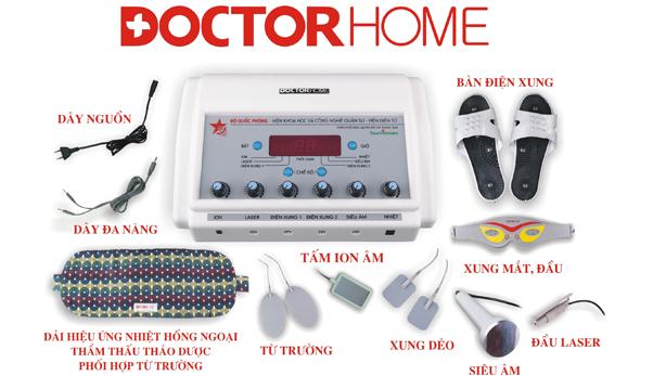 Cấu tạo của máy vật lý trị liệu đa năng Doctor Home