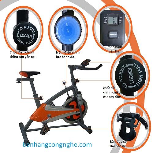mô tả bộ phận xe đạp tập thể dục P0608