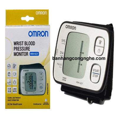 máy đo huyết áp cổ tay Omron Hem 6221