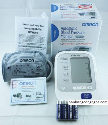 Máy đo huyết áp bắp tay Omron Hem 7211 - t