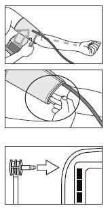 cuốn và lắp vòng bít của máy đo huyết áp bắp tay