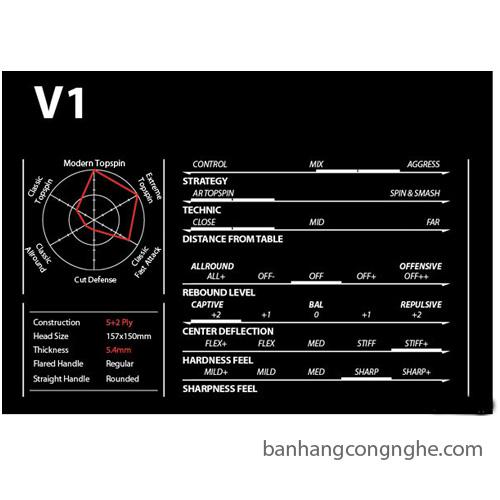 Cốt vợt bóng bàn Xiom - V1
