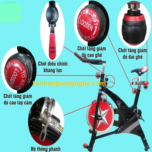 chi tiết xe đạp 0708